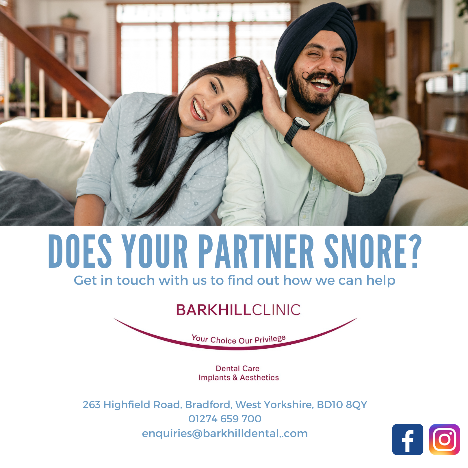 Does your partner snore Banner